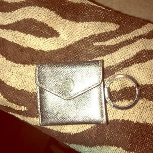 MK Micheal Kors key chain ring picture holder EUC